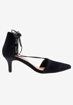 Lace-Up Velvet Pump by ellos®, BLACK