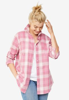 Plaid Flannel Shirt by ellos®,