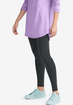 Leggings by ellos®, HEATHER CHARCOAL