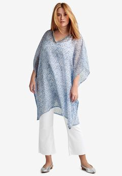 Bead Trim Caftan Tunic by ellos®,