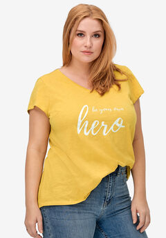 V-Neck Graphic Tee by ellos®,