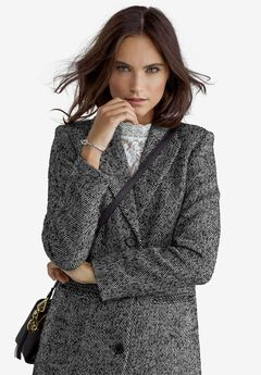 Herringbone Wool-Blend Coat by ellos®,