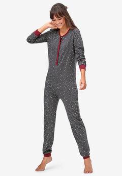 Henley One-piece Pajamas by ellos®,