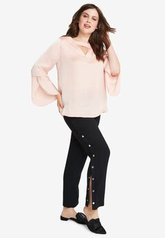 Satin Cutout Blouse by ellos®,