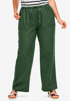 Linen Blend Drawstring Pants by ellos®,