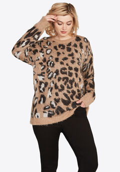 Leopard Print Sweater by ellos®,