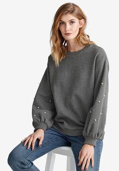Pearl Trim Sweatshirt by ellos®,