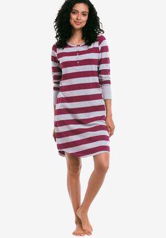 Long Sleeve Henley Sleepshirt by ellos®,