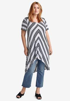 High-Low Stripe Tunic by ellos®,