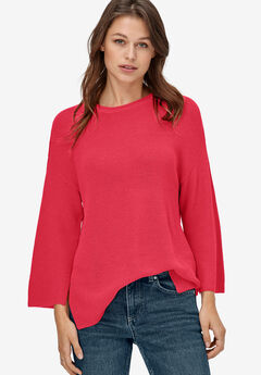 Relaxed Rib Pullover Sweater by ellos®, PERSAN RED