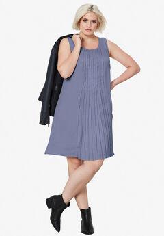 Pleated Sleeveless Dress,