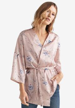 Sash-Tie Kimono by ellos®, PINK CHAMPAGNE BOTANICAL