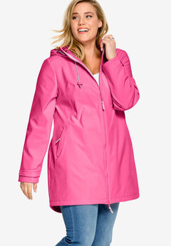 Zip Front Bonded Fleece Jacket by ellos®, ROYAL ROSE
