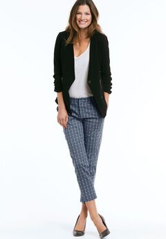 Printed Slim Ankle Pants by ellos®,