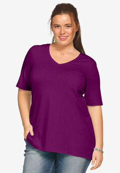 V-neck A-line Tunic by ellos®,
