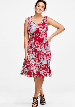 Fit and Flare Knit Dress by ellos®,