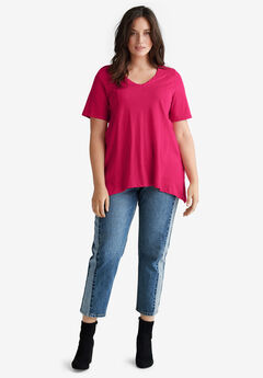 Point-hem Tee by ellos®, CRYSTAL BERRY