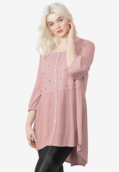 Petal Tunic by ellos®, SOFT BLUSH