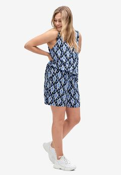 Drapey Shorts, MIDNIGHT BLUE PRINT