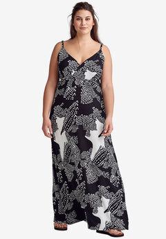 e3a36a6bcedd8 Knit Surplice Maxi Dress by ellos®