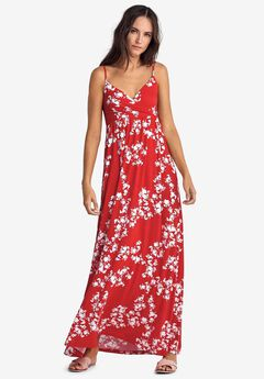 Knit Surplice Maxi Dress by ellos®,