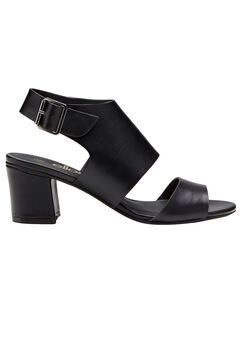 Faux Leather Wide Strap Sandals by ellos®,