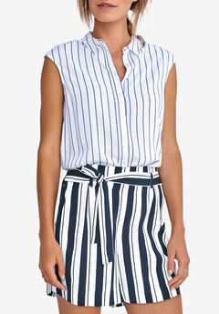 Tie-Front Flowy Shorts by ellos®,