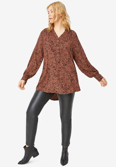 3-Button Y-Neck Tunic,