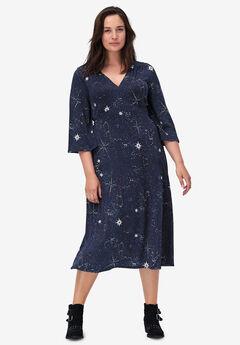 Empire Waist Midi Dress,