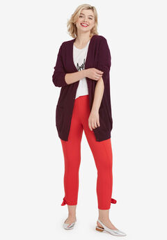 Boyfriend Cardigan by ellos®, MIDNIGHT BERRY