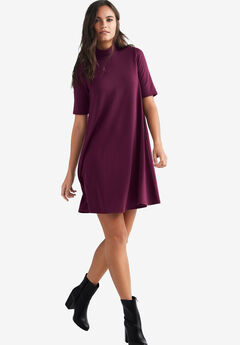 Mock Neck Cutout Back Dress by ellos®,