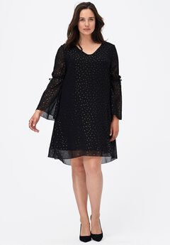 Gold Dot A-line Dress by ellos®,