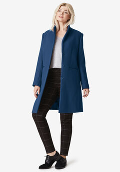 Malin Wool-Blend Coat by ellos®, RICH NAVY