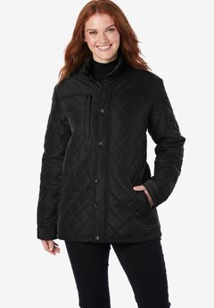 Plus Project Light Quilted Jacket, BLACK