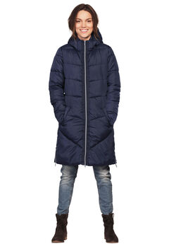 Long Puffer Coat, NAVY