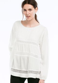 Pintucked Tiered Woven Tunic by ellos®,