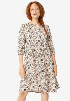 Keyhole A-line Dress,