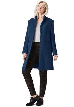 Malin Wool-Blend Coat, RICH NAVY