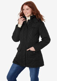 Plus Project Quilted Parka, BLACK