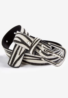 Animal Print Belt by ellos®, ZEBRA PRINT