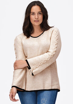 Braided Sleeve Sweater by ellos®,