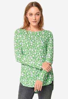High/low Shirttail Hem Tunic,