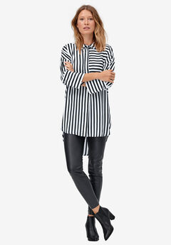 Stripe Tunic Shirt by ellos®,