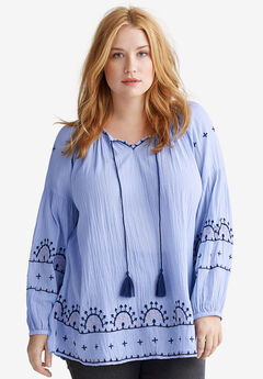 Embroidered Boho Tunic by ellos®,