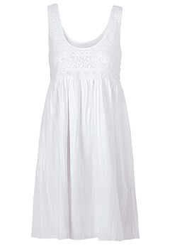 Sleeveless Lace Bodice Dress by ellos®,