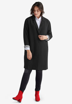 Button-Front Boyfriend Coat by ellos®,