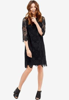 Iris Scalloped Lace Dress by ellos®,