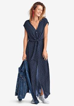 Tie-Front Maxi Dress,