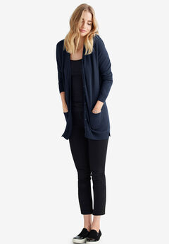 Boyfriend Cardigan by ellos®, NAVY