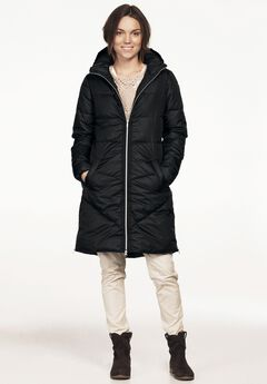 Long Puffer Coat, BLACK